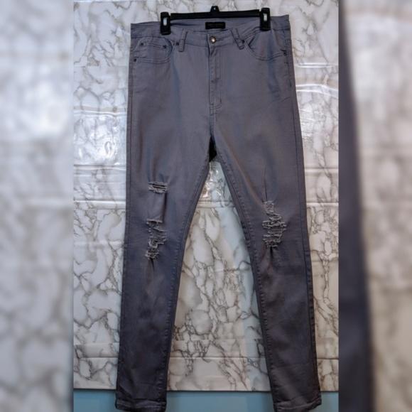 American Bazi Denim - American Bazi   Grey distressed jeans